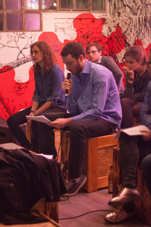 2.3.2016. čitanje u Kavezu (Lana, Jakob, Josip, Marija)